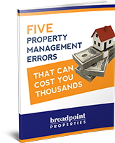 Five Property Management Errors that Can Cost You Thousands