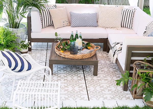 small patio tile pattern