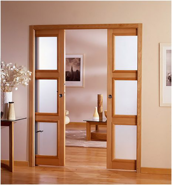 french pocket doors for easy access for pwd