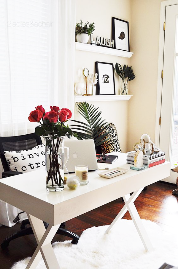 Valentine's Day Inspired Home Ideas-home-office