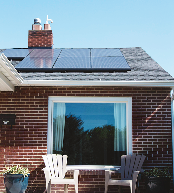 use solar panels for a greener home