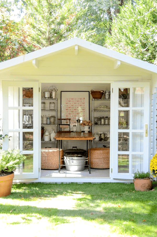 create new spaces at home - Beautiful She Shed