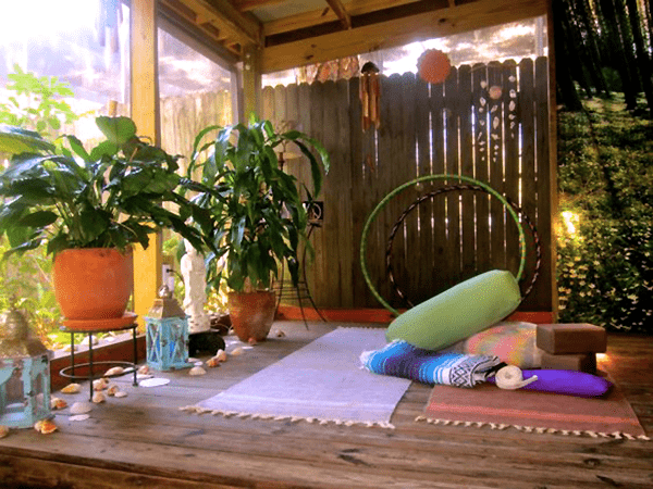 create new spaces at home - Multi-use yoga/meditation spot