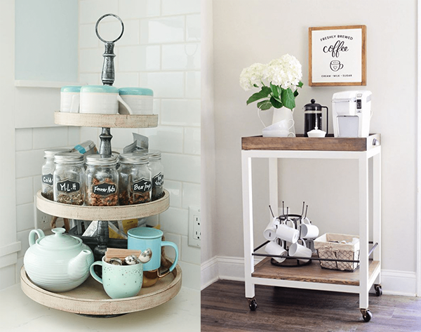 creative coffee stations at home