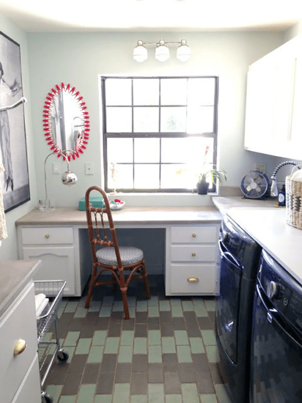 create new spaces at home - Workspace in the laundry room