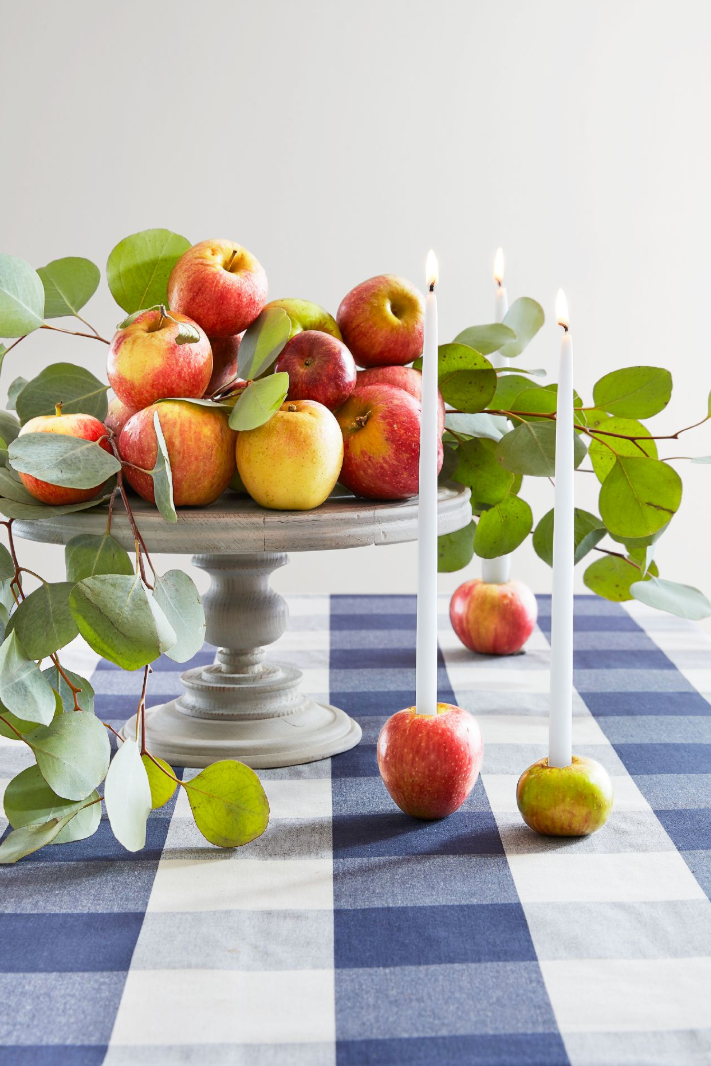 Effortless Thanksgiving Home Decor-apple-candle-holders-diy