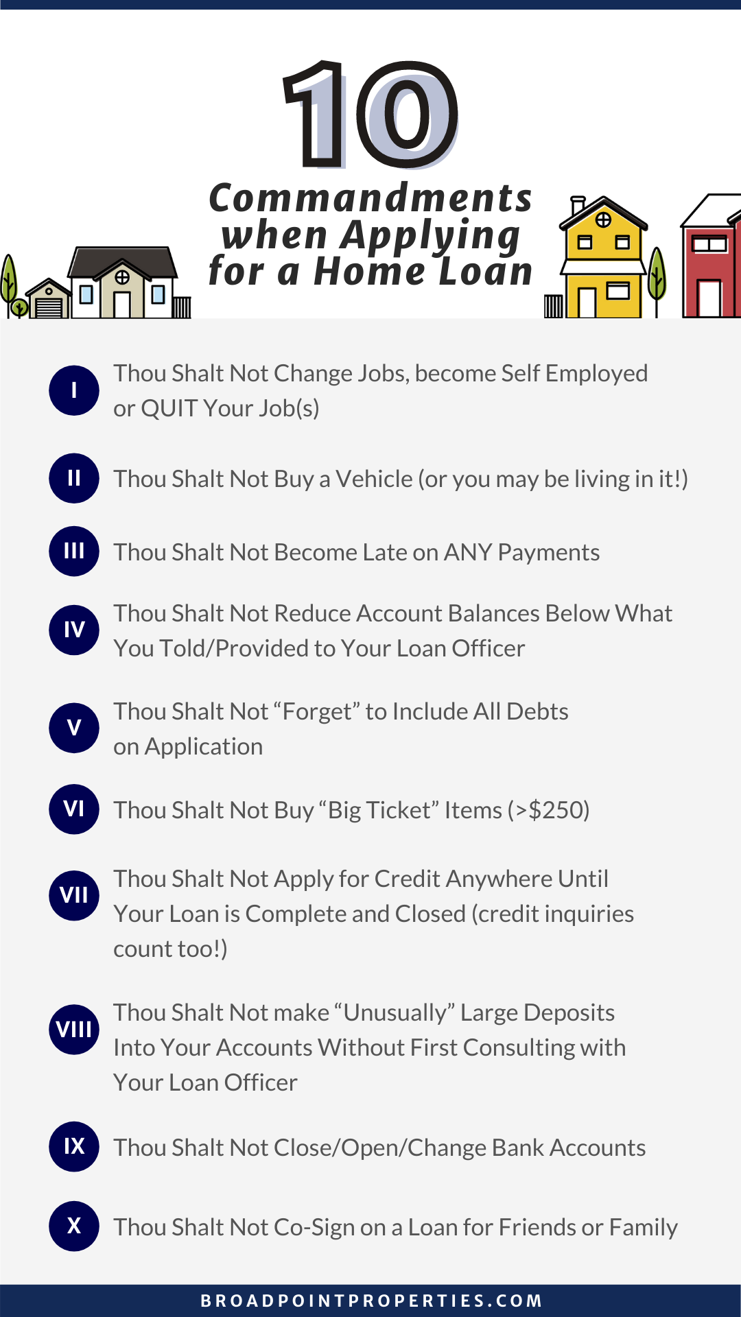 The 10 Commandments of Getting a Home Loan