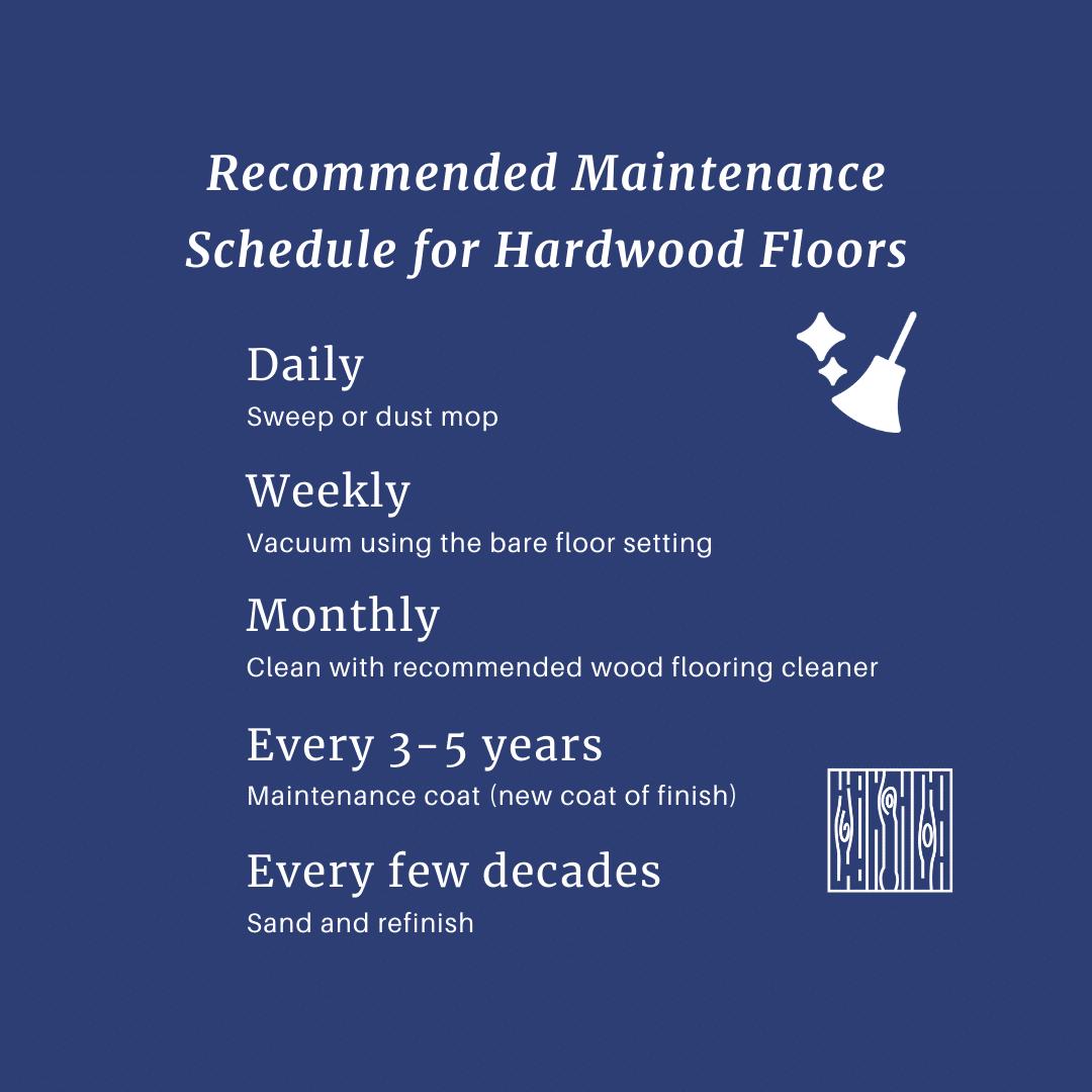 Wood floor cleaning schedule