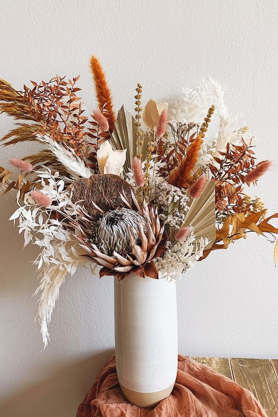 Dried Flower Arrangement by Afloral - Cheap and easy spring home updates
