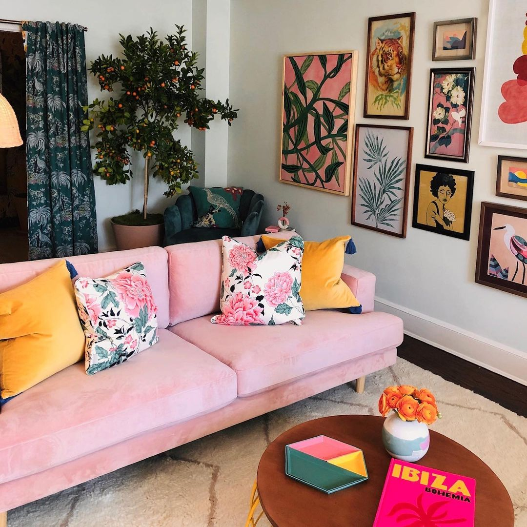Living Room Decor By Flower Home - Cheap and easy spring home updates